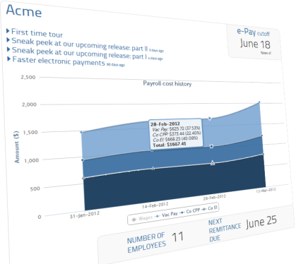 Upcoming enhancements to your payroll dashboard
