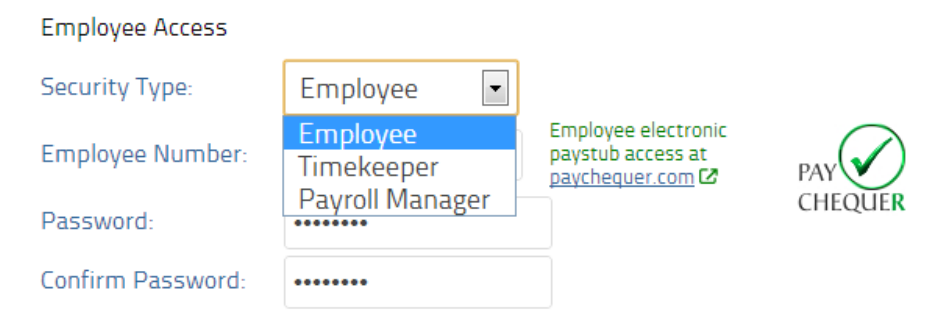 Set employee permissions