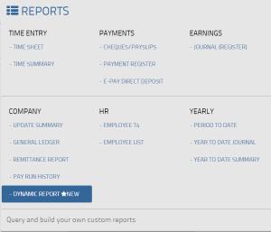 Report-menu